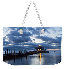 Early Morning Over Roanoke Marshes Lighthouse Weekender Tote Bag