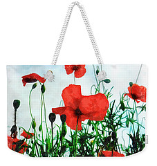 Early Morning Poppy Moment Weekender Tote Bag