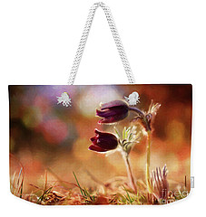 Early Morning Purple Pasque Weekender Tote Bag