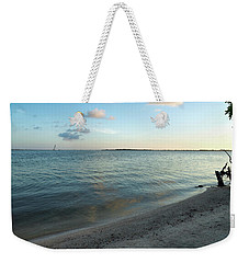 Weekender Tote Bag featuring the photograph Early Morning Reflections by John M Bailey