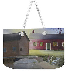 Early Morning Sun At The Shop Weekender Tote Bag