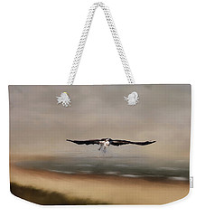 Weekender Tote Bag featuring the photograph Early Morning Takeoff by Kim Hojnacki