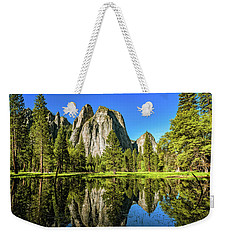 Weekender Tote Bag featuring the photograph Early Morning View At Cathedral Rocks Vista by John Hight