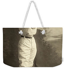 Early Portrait Of A Woman Baseball Player Weekender Tote Bag