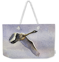 Weekender Tote Bag featuring the painting Early Riser by Kris Parins