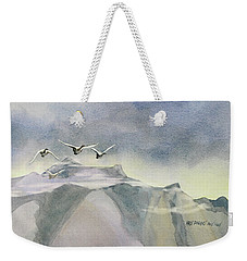 Weekender Tote Bag featuring the painting Early Risers by Kris Parins
