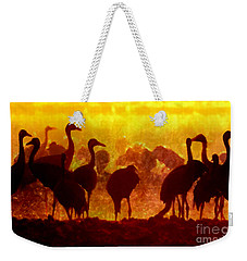 Early Risers  Weekender Tote Bag