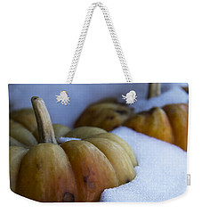 Weekender Tote Bag featuring the photograph Early Snow by Michael Friedman