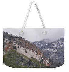 Weekender Tote Bag featuring the photograph Early Snows by DeeLon Merritt