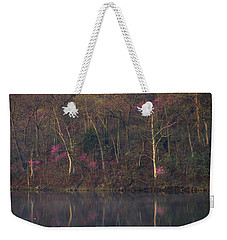 Early Spring Lake Shore Weekender Tote Bag