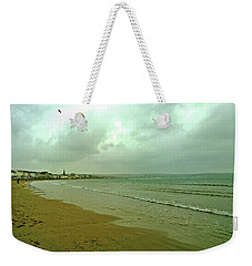 Early Walk Weymouth Beach Weekender Tote Bag