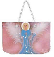 Weekender Tote Bag featuring the digital art Earth Angel Of Love by Sherri Of Palm Springs
