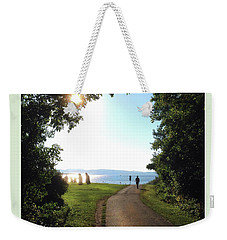 Earth Clock Burlington Vt Weekender Tote Bag by Felipe Adan Lerma