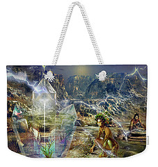 Weekender Tote Bag featuring the digital art Earth Energy by Shadowlea Is