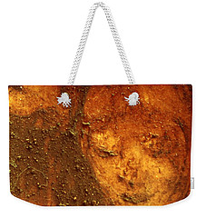 Weekender Tote Bag featuring the painting Earth Face by Winsome Gunning
