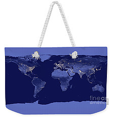Weekender Tote Bag featuring the photograph Earth From Space by Delphimages Photo Creations