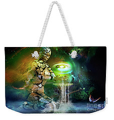 Weekender Tote Bag featuring the digital art Earth Life by Shadowlea Is