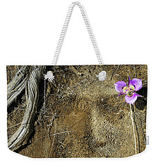 Weekender Tote Bag featuring the photograph Earth Memories-desert Flower # 1 by Ed Hall