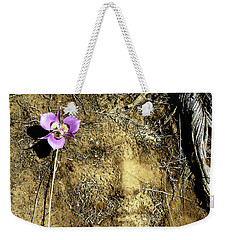 Weekender Tote Bag featuring the photograph Earth Memories - Desert Flower # 2 by Ed Hall