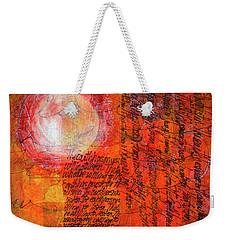 Weekender Tote Bag featuring the mixed media Earth Music by Nancy Merkle
