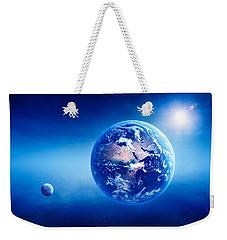 Earth Sunrise Deep Space Weekender Tote Bag
