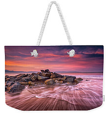 Weekender Tote Bag featuring the photograph Earth, Water And Sky by Edward Kreis