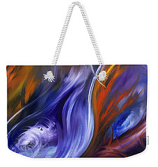 Earth, Wind And Fire Weekender Tote Bag by Valerie Travers
