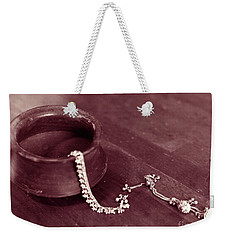Earthen Pot And Silver Weekender Tote Bag