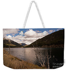 Earthquake Lake Weekender Tote Bag by Cindy Murphy - NightVisions