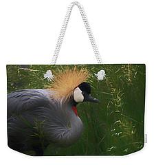 East African Crowned Crane Dp Weekender Tote Bag by Ernie Echols