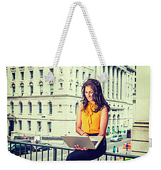 East Indian American Businesswoman In New York Weekender Tote Bag