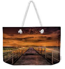 East Lake Pier Topaz Weekender Tote Bag