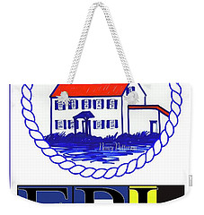 East Point Lighthouse Poster Weekender Tote Bag by Nancy Patterson