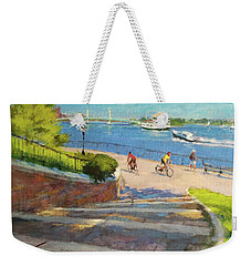 East River From Carl Schurz Park Weekender Tote Bag
