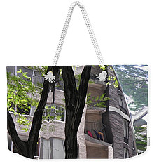 Weekender Tote Bag featuring the photograph East West Gate 4  by Sarah Loft