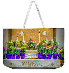 Weekender Tote Bag featuring the photograph Easter Alter And Flowers by Nick Zelinsky