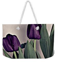 A Display Of Tulips Weekender Tote Bag by Sherry Hallemeier