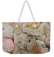 Weekender Tote Bag featuring the photograph Easter Bunnies by Benanne Stiens