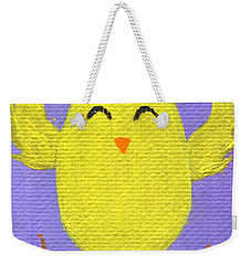 Weekender Tote Bag featuring the painting Easter Chicky by Jamie Frier