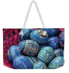 Easter Eggs Weekender Tote Bag by Eva Lechner