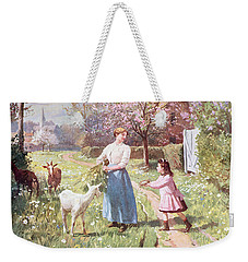 Easter Eggs In The Country Weekender Tote Bag by Victor Gabriel Gilbert