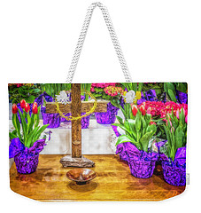 Weekender Tote Bag featuring the photograph Easter Flowers by Nick Zelinsky