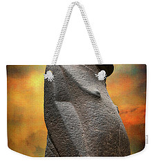 Weekender Tote Bag featuring the photograph Easter Island Moai by Adrian Evans