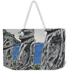 Easter Island Stone Men Weekender Tote Bag