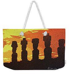 Easter Island Sunset Weekender Tote Bag by Ryan Fox