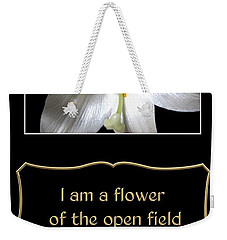 Easter Lily With Song Of Songs Quote Weekender Tote Bag