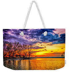 Weekender Tote Bag featuring the photograph Easter Sunset At Riverview Beach Park by Nick Zelinsky