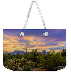 Weekender Tote Bag featuring the photograph Easter Sunset H18 by Mark Myhaver
