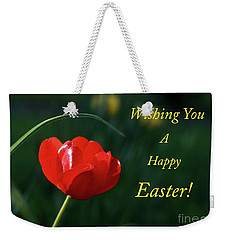 Weekender Tote Bag featuring the photograph Easter Tulip by Douglas Stucky
