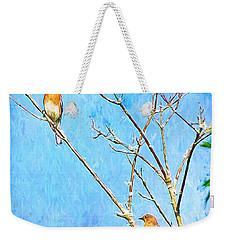Eastern Bluebird Couple Weekender Tote Bag